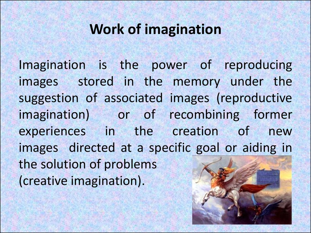 Work of imagination