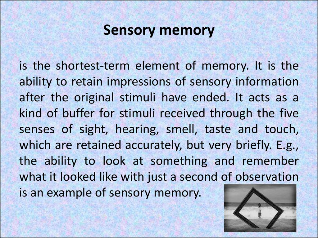 sensory memory Outline and evaluate the multi-store memory the multi-store memory as proposed by atkinson and shiffrin is composed of 3 main stores, all varying in capacity, duration, encoding and how they can be forgotten.