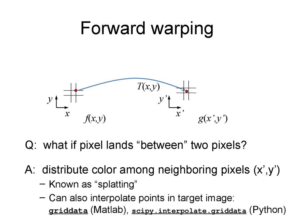 Image warping / morphing - презентация онлайн