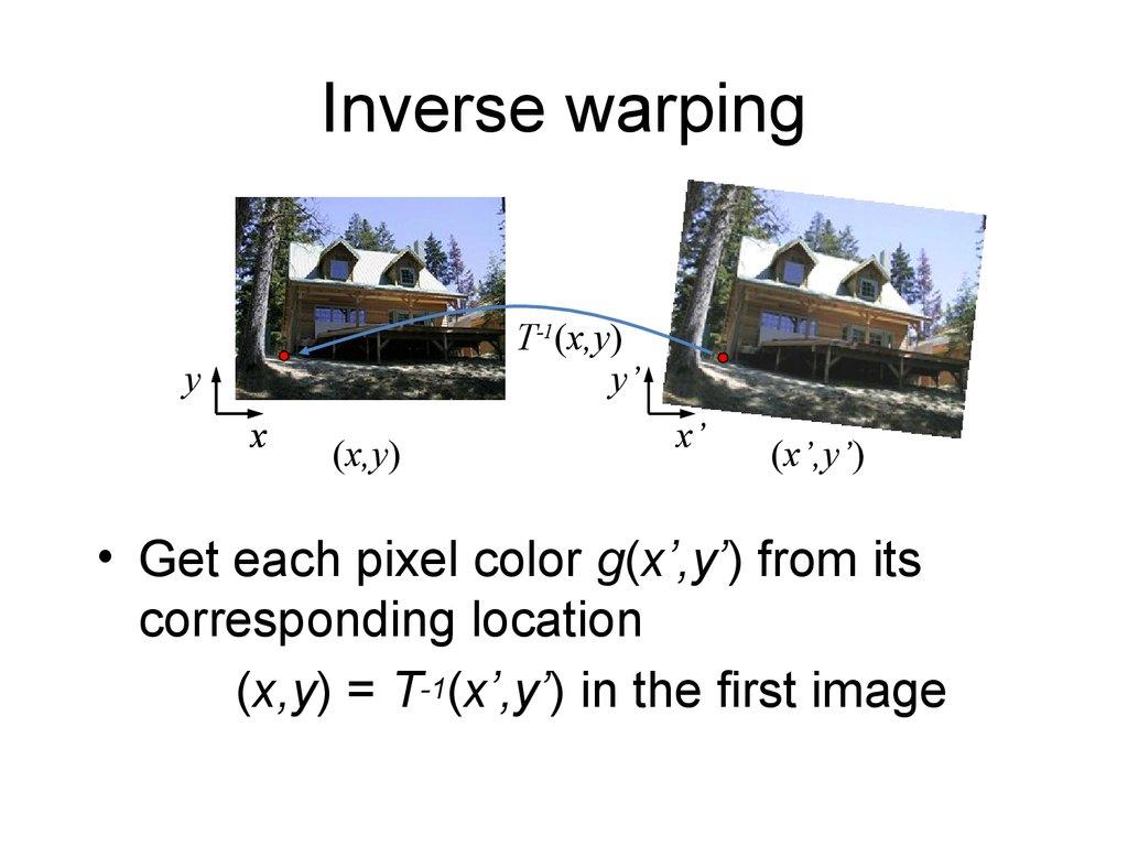 Image warping / morphing - online presentation