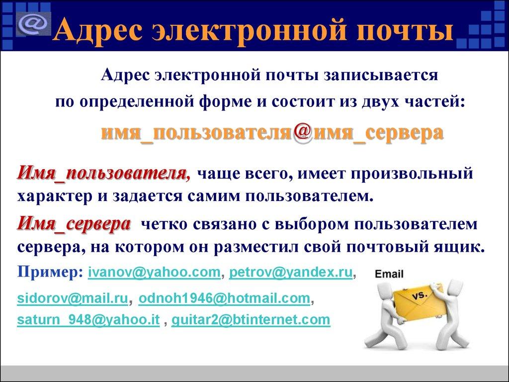 Электронный адрес почты картинки