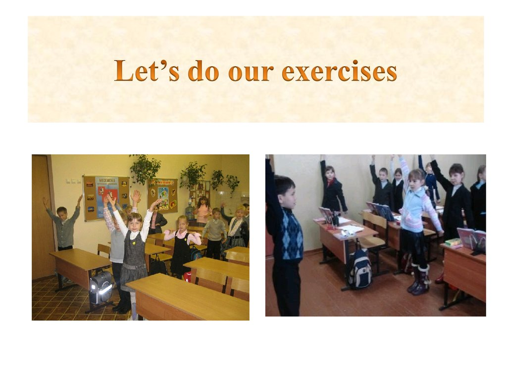 Let's do our exercises