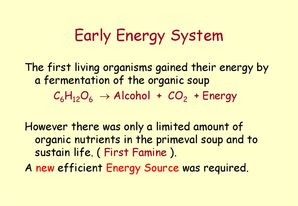 Early Energy System
