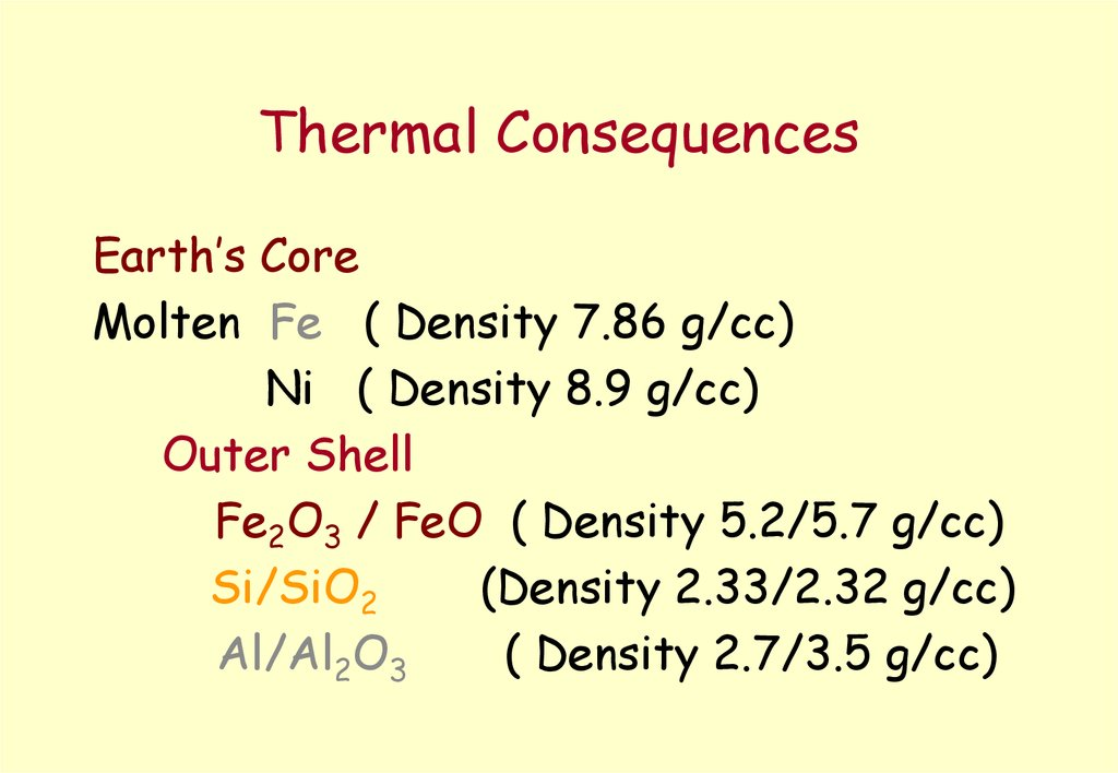 Thermal Consequences