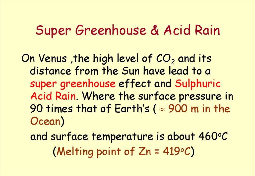 Super Greenhouse & Acid Rain