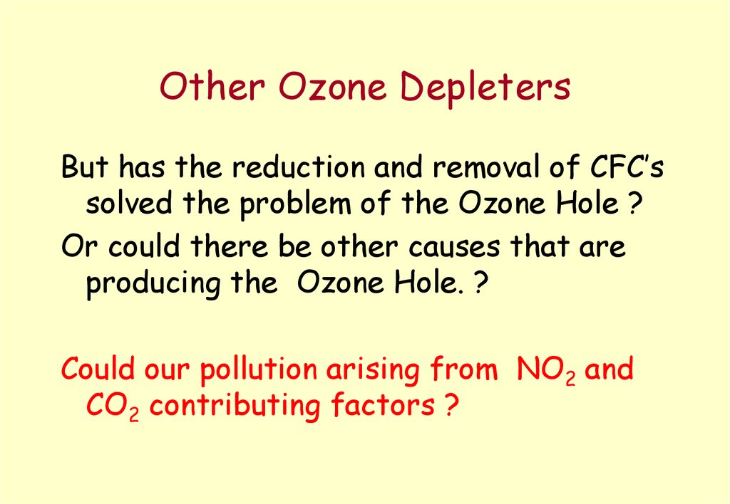 Other Ozone Depleters