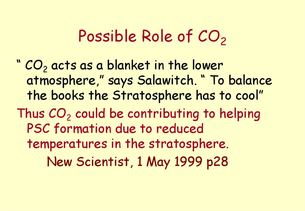 Possible Role of CO2