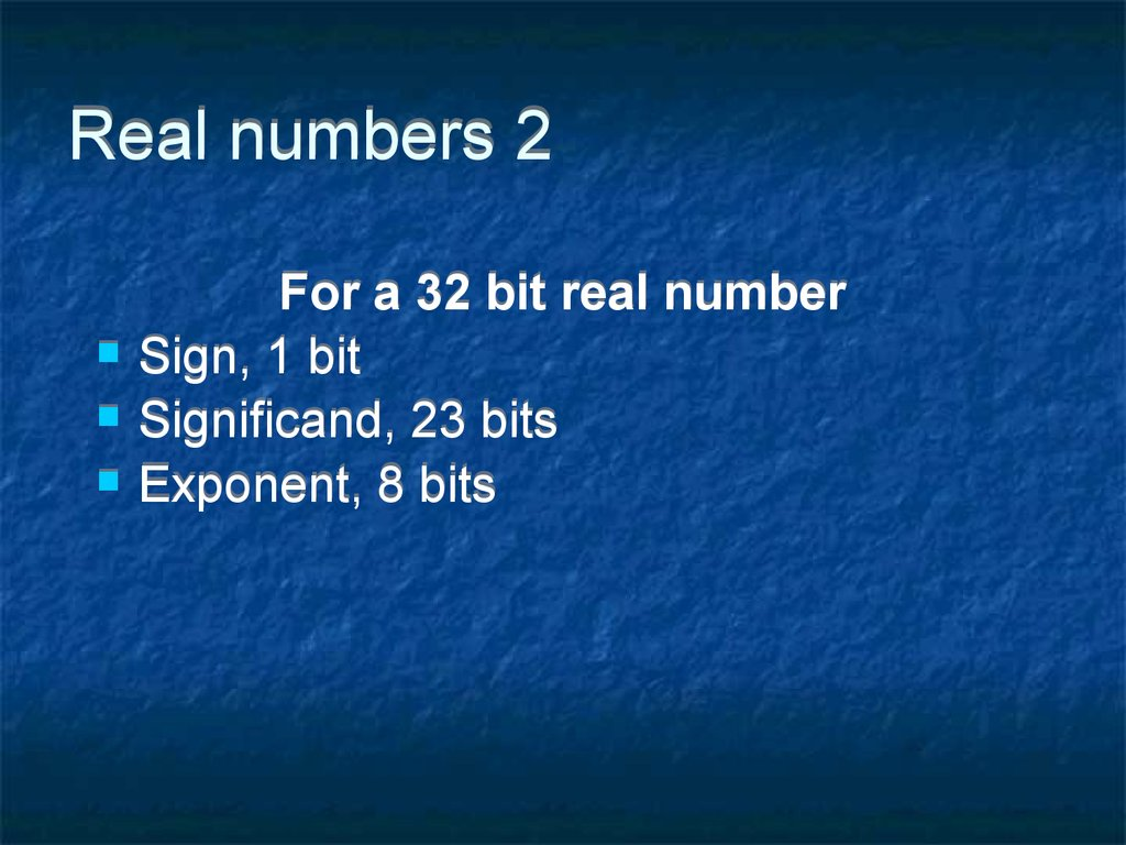 Real numbers 2