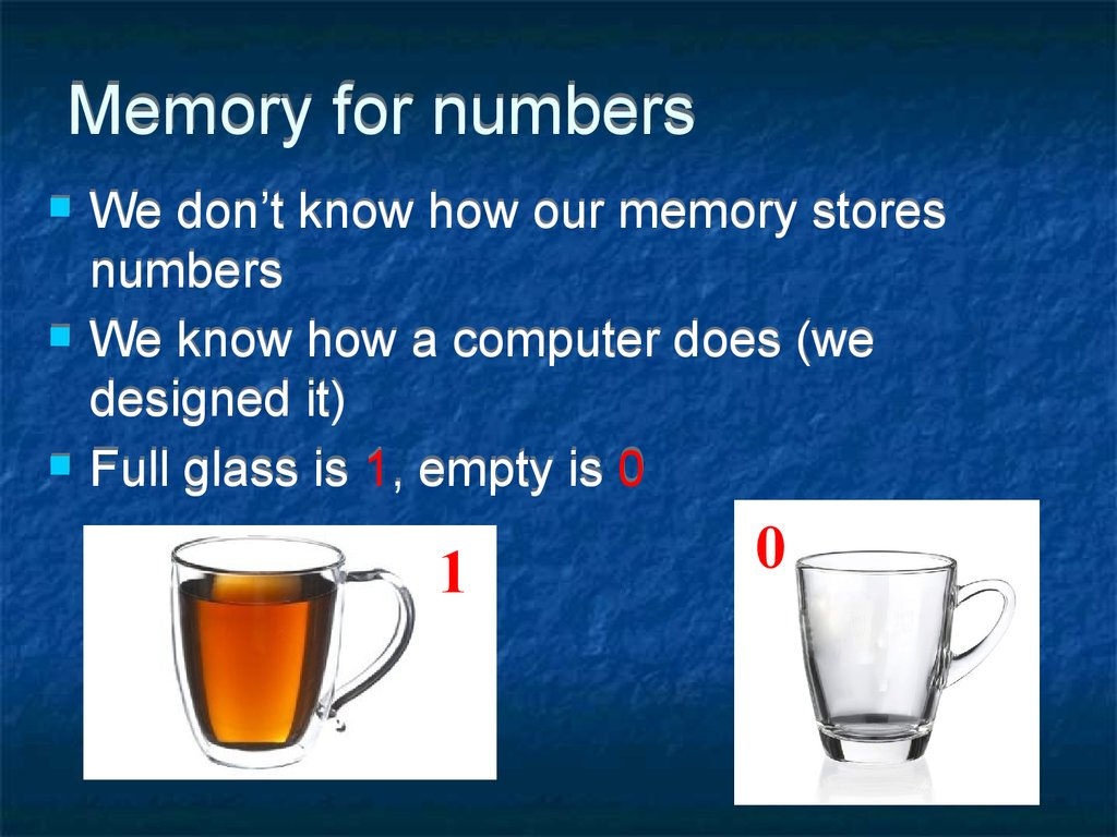Memory for numbers