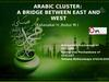 Arabic cluster: a bridge between east and west
