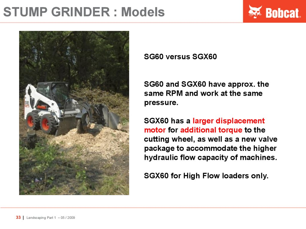 STUMP GRINDER : Models
