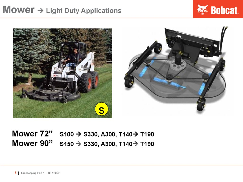 Mower  Light Duty Applications
