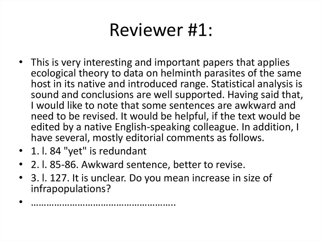 Reviewer #1: