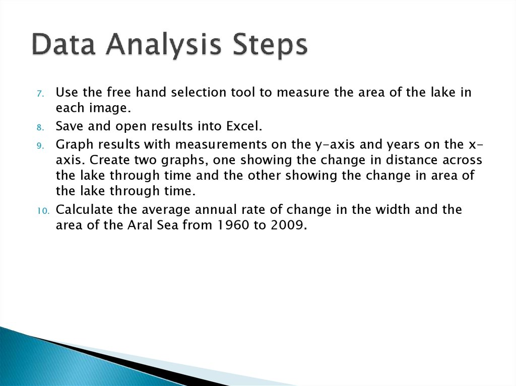 Data Analysis Steps