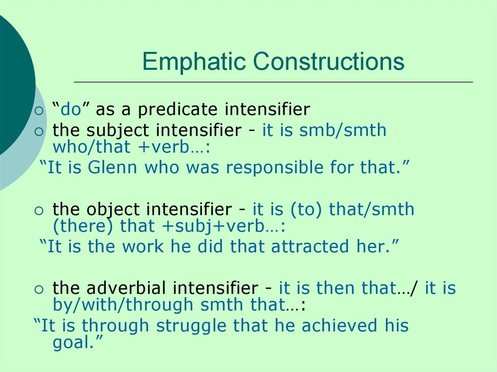 Emphatic Constructions