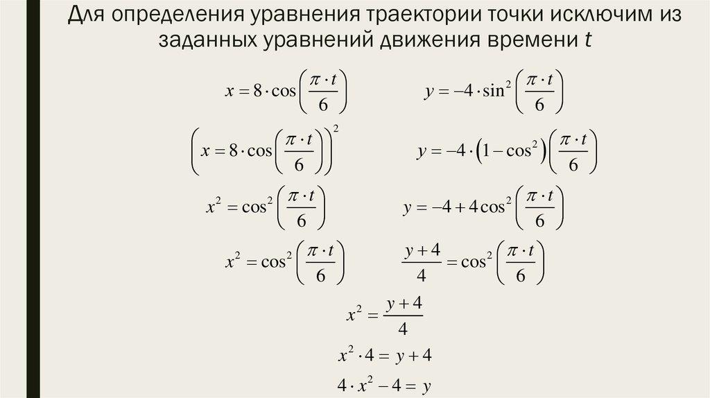 Решение задач уравнение траектории решение задач трапеция равнобедренная трапеция