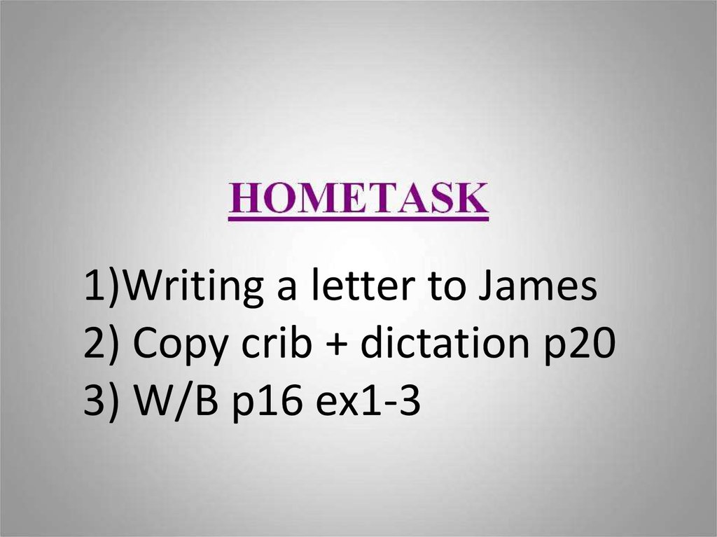 a i i greeting letter online presentation 1writing a letter to james 2 copy crib dictation p20 3 wb p16 ex1 3 m4hsunfo