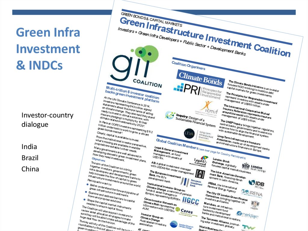 Green Infra Investment & INDCs