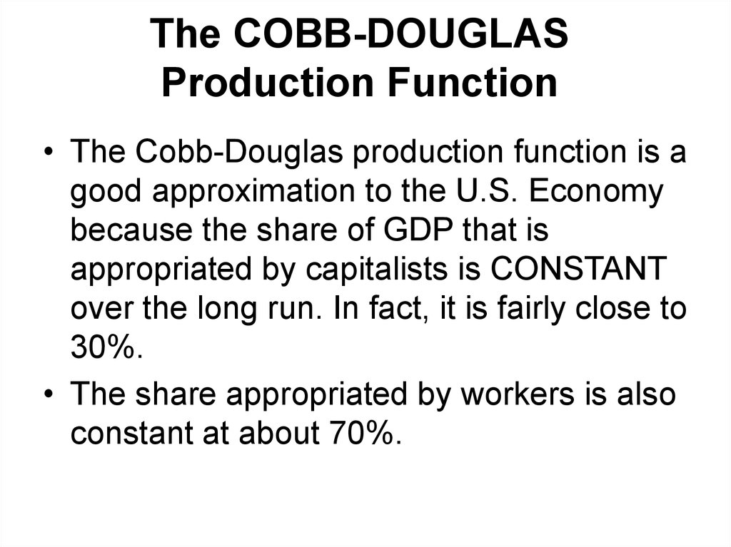 cobb douglas Utility maximization steps mpp 801 fall, 2007 the mrs and the cobb-douglas consider a two-good world, xand y our consumer, skippy, wishes to maximize utility, denoted u(x,y).