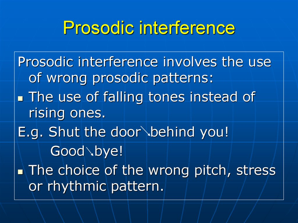 The features of phonemic interference