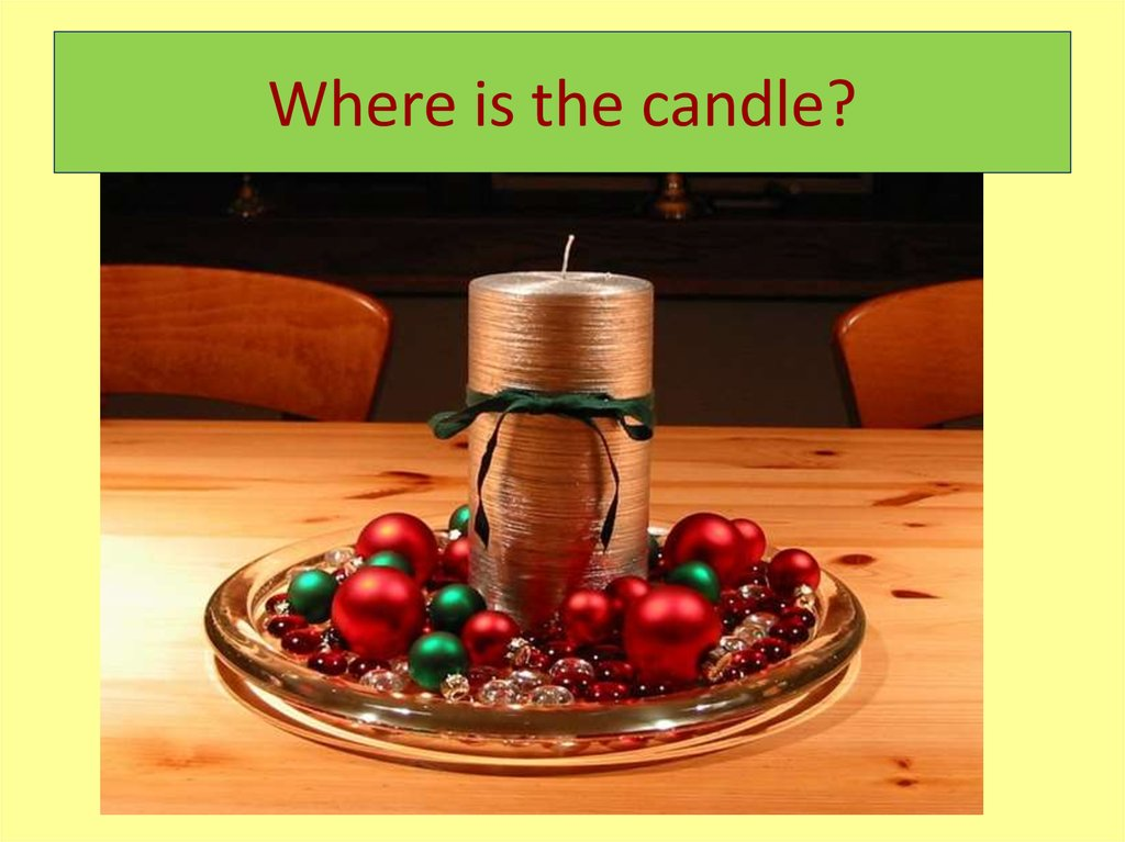 Where is the candle?