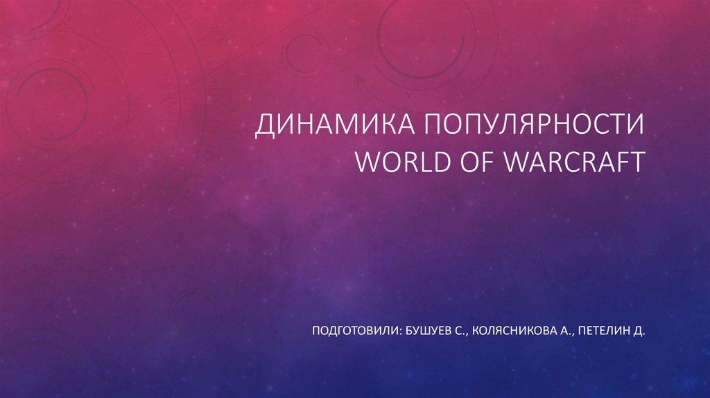 Динамика популярности World of Warcraft
