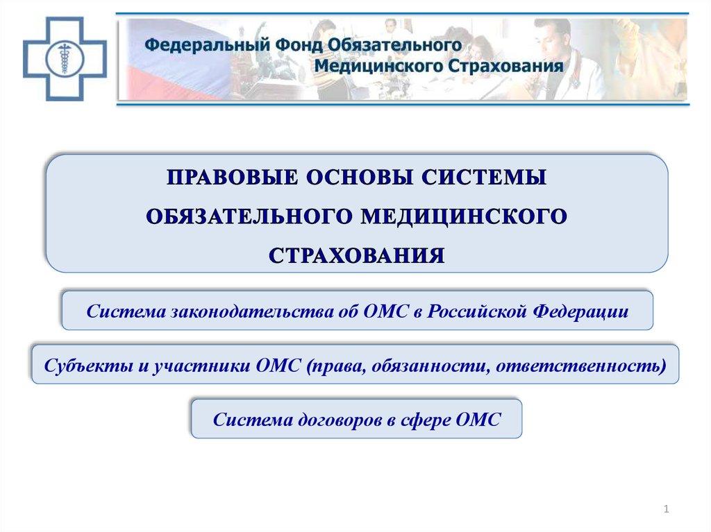 обязательное медицинское страхования в россии