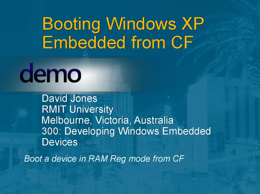 Booting Windows XP Embedded from CF