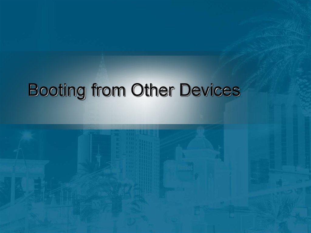 Booting from Other Devices