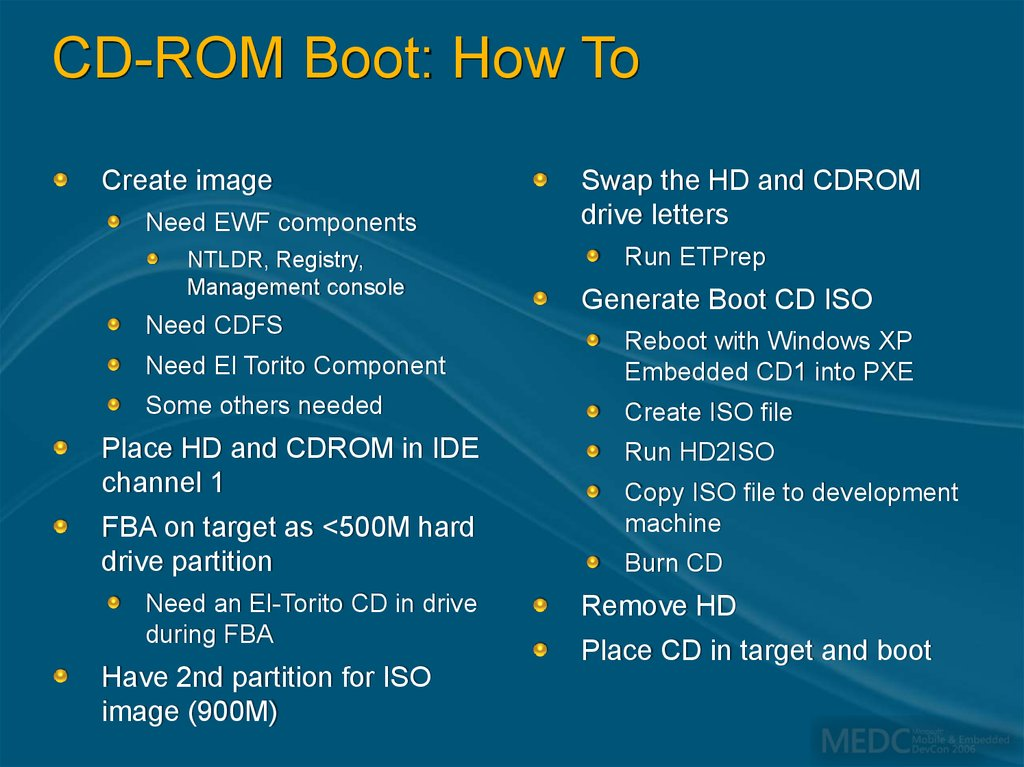 CD-ROM Boot: How To