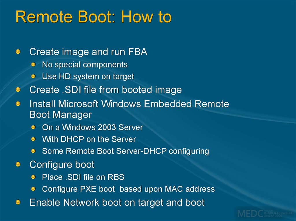 Remote Boot: How to
