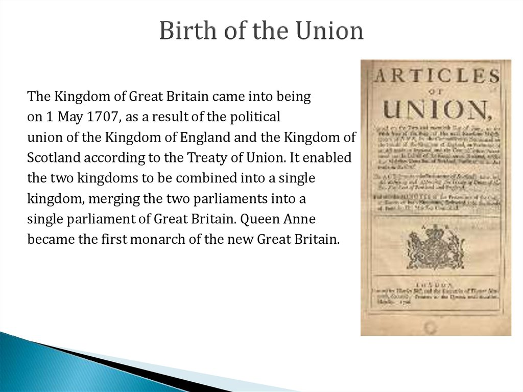 Birth of the Union