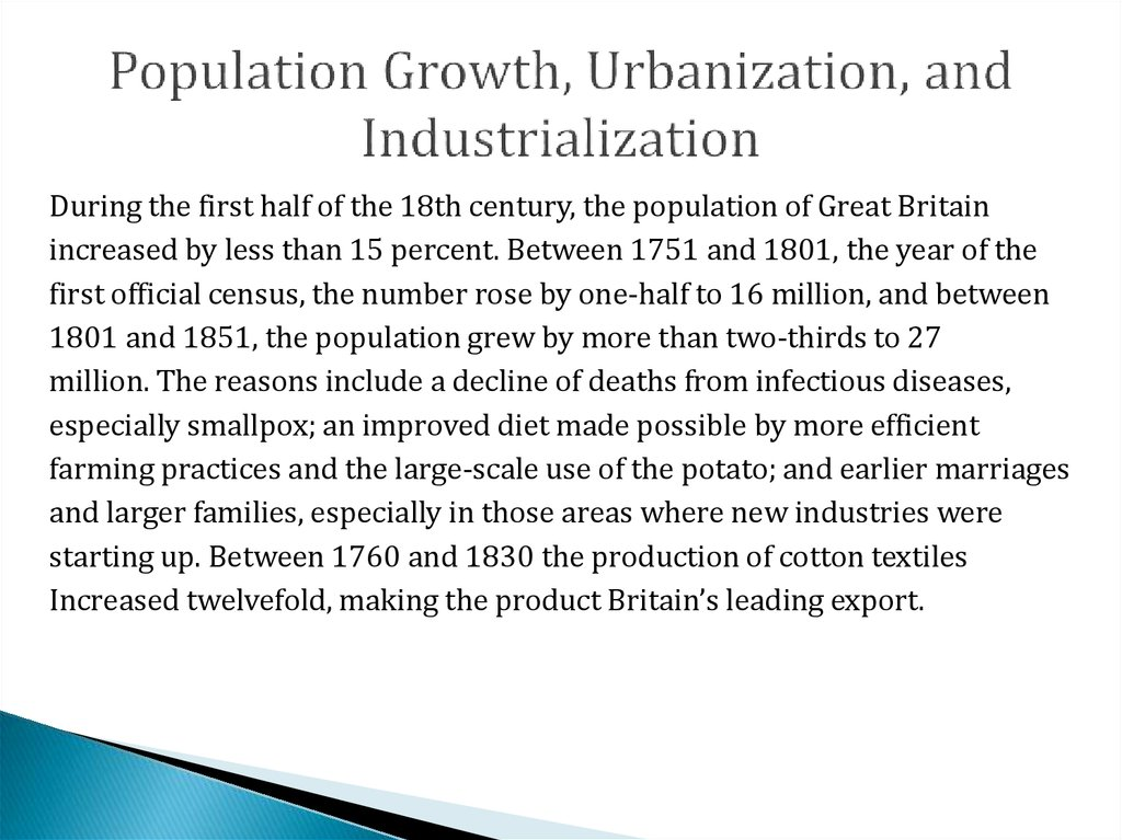 impact of industrialization urbanization and globalization Urbanization refers to the population industrialization this finding indicates that urbanization may have a negative impact on population health particularly.