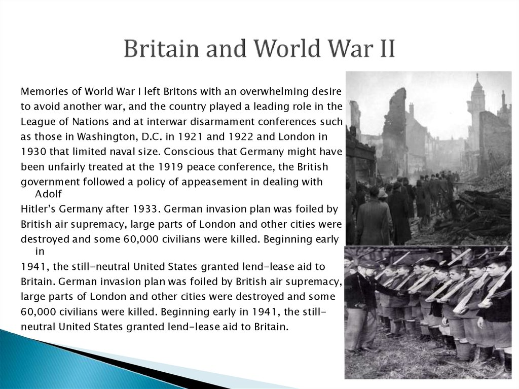 Britain and World War II