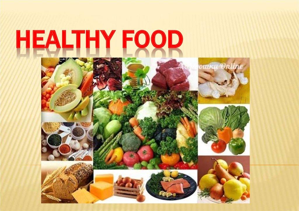 healthy food presentation