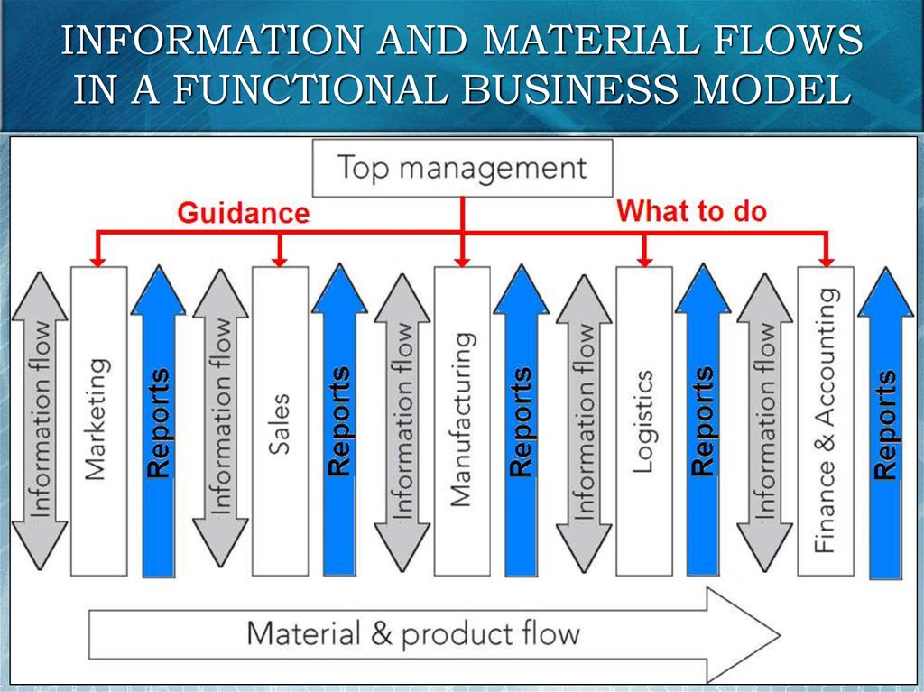 INFORMATION AND MATERIAL FLOWS IN A FUNCTIONAL BUSINESS MODEL