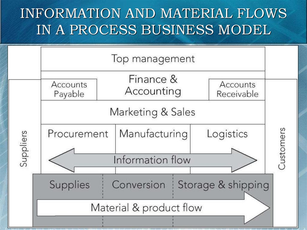 INFORMATION AND MATERIAL FLOWS IN A PROCESS BUSINESS MODEL