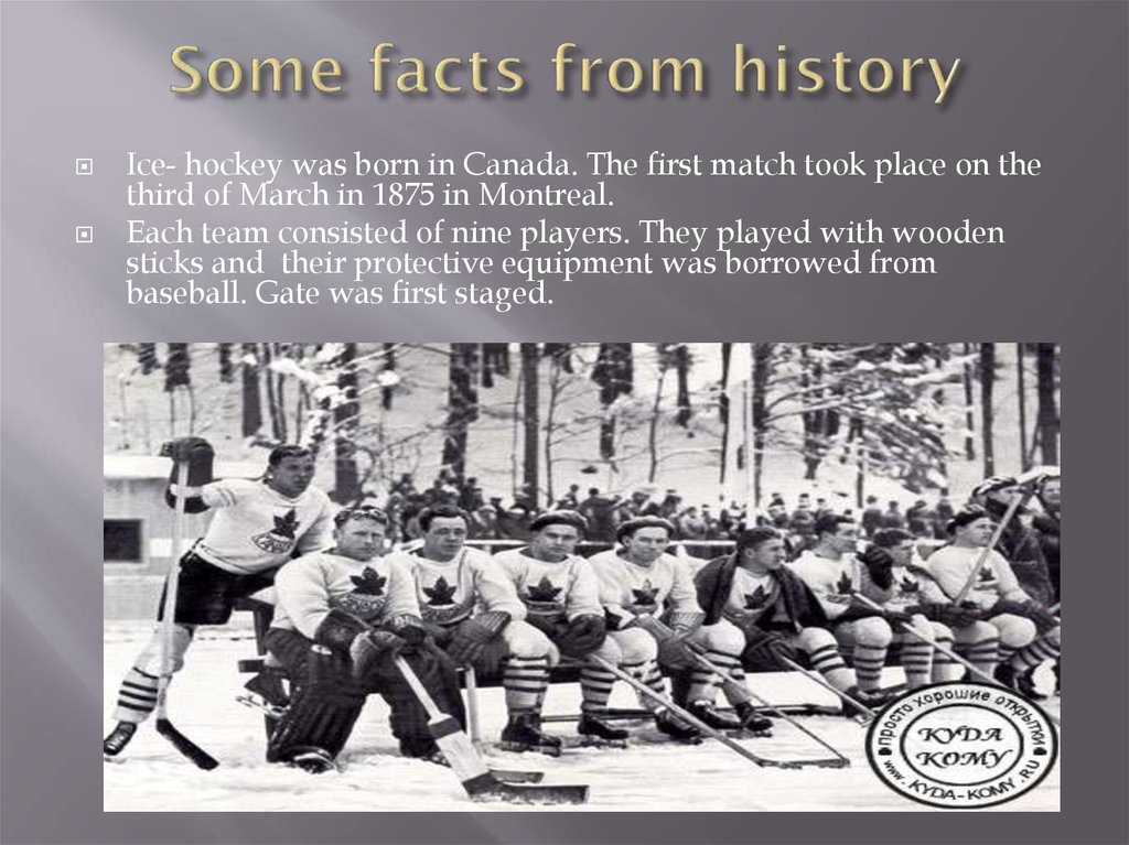 Some facts from history