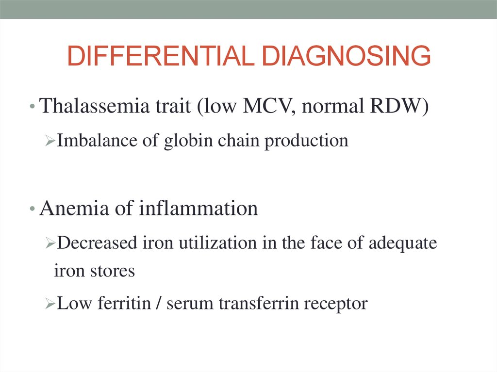DIFFERENTIAL DIAGNOSING