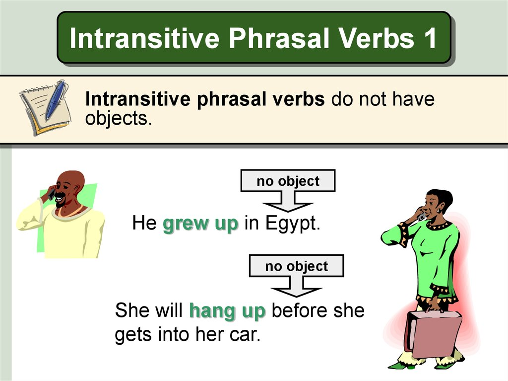 Intransitive Phrasal Verbs 1
