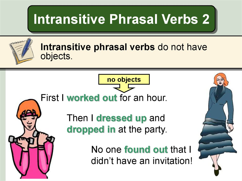 Intransitive Phrasal Verbs 2