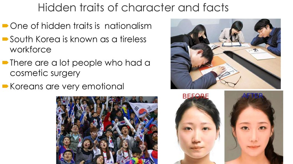 Hidden traits of character and facts