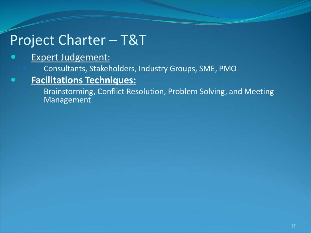 Project Charter – T&T