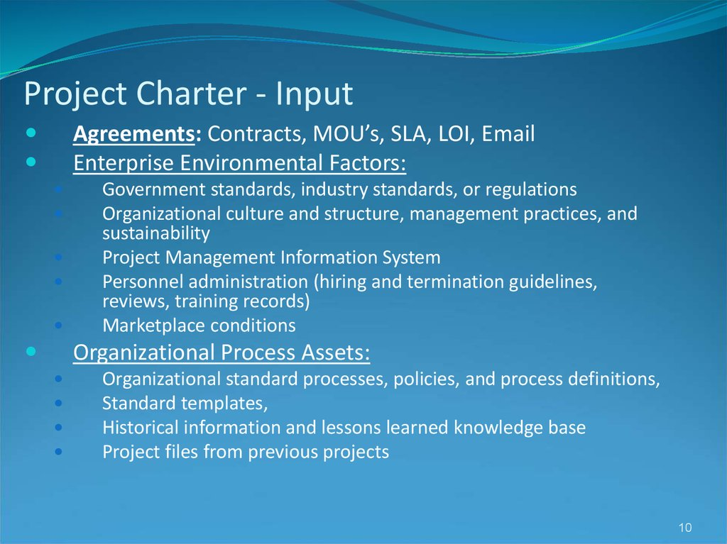 Project Charter - Input