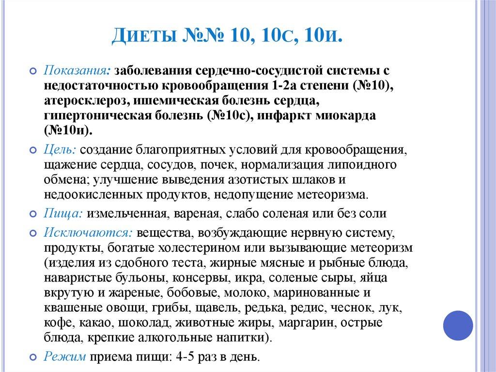 Диета 10 Л. Диета №10: показания, разрешенные и запрещенные продукты питания, рецепты