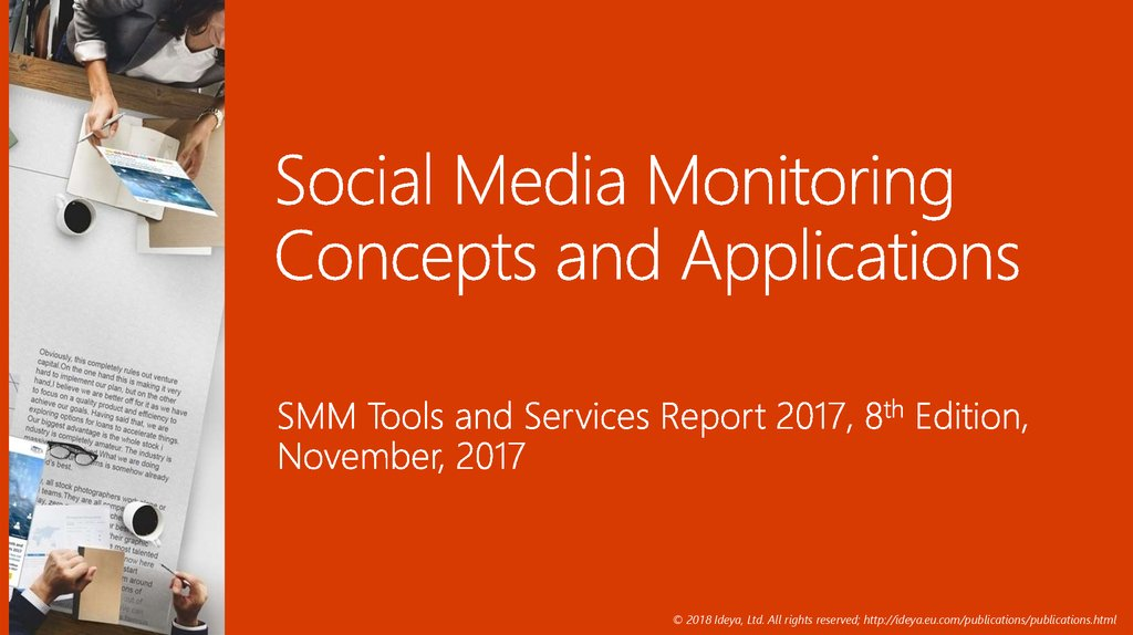 Social Media Monitoring Concepts and Applications