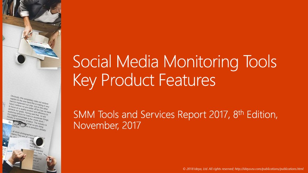 Social Media Monitoring Tools Key Product Features