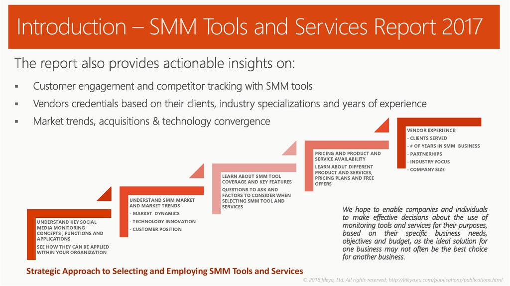 Introduction – SMM Tools and Services Report 2017