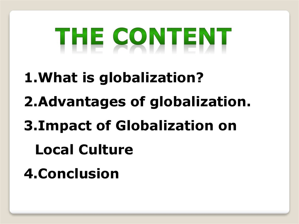 Impact Of Globalization On Local Culture