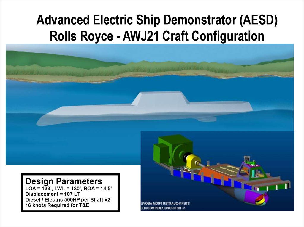 Advanced Electric Ship Demonstrator (AESD) Rolls Royce - AWJ21 Craft Configuration